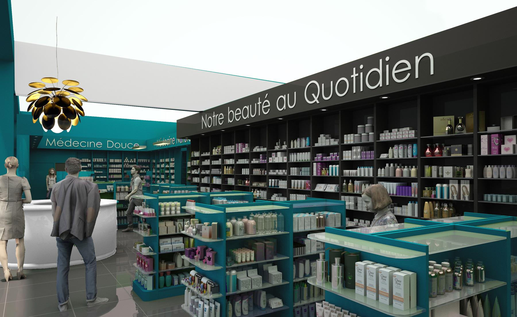 Pharmacie des portes de l 39 allier macary architecture - Centre commercial les portes de taverny ...